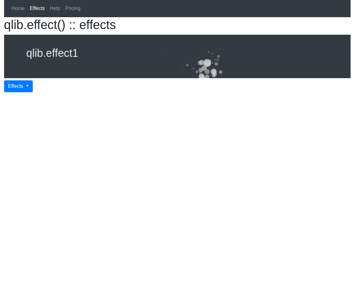 qlib-effect 1.0 - Add html5 effects to your website very easily. Highly customizable.