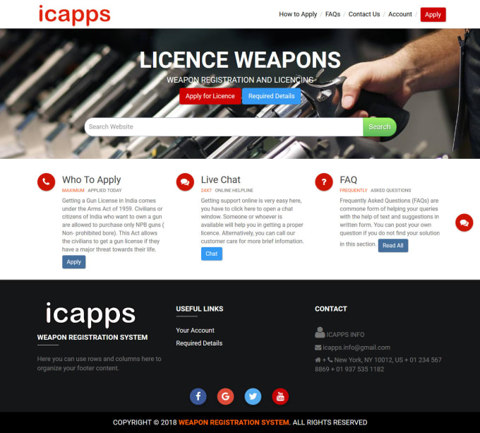 Weapon Registration System