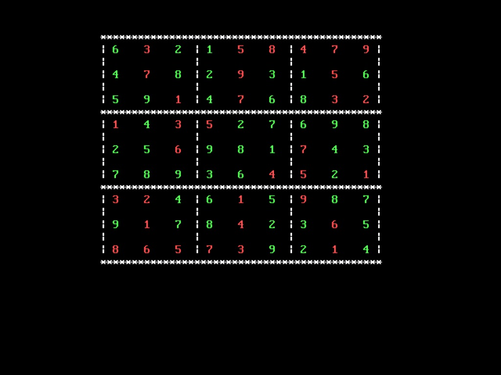 Sudoku -The Game in C