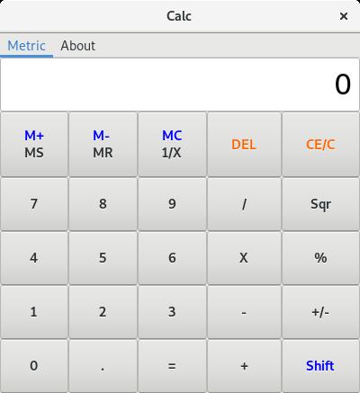Calc -  simple calculator with metric converter