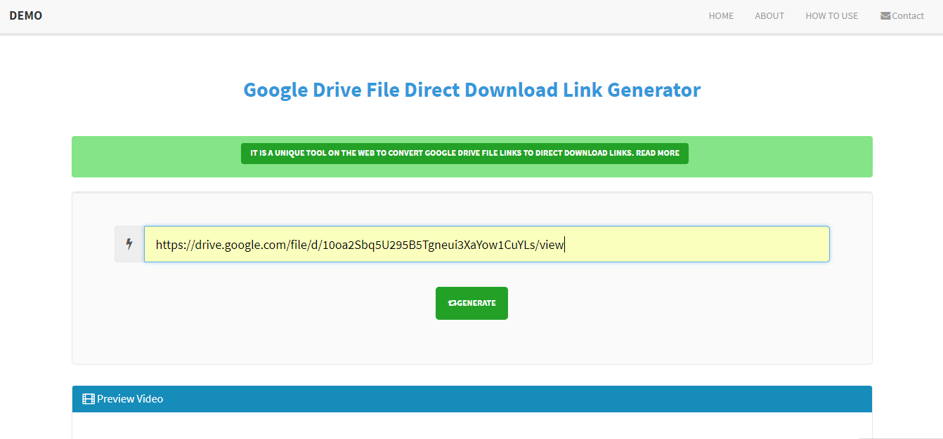 Google Drive Video Generator