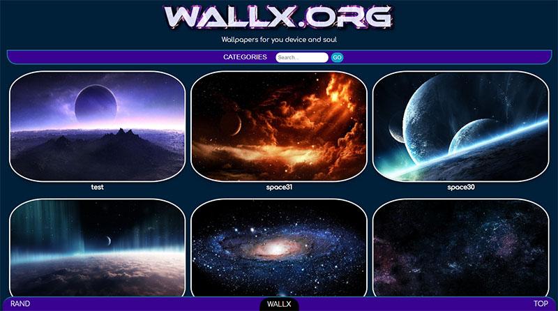 Backgrounds - Wallpapers script WALLX