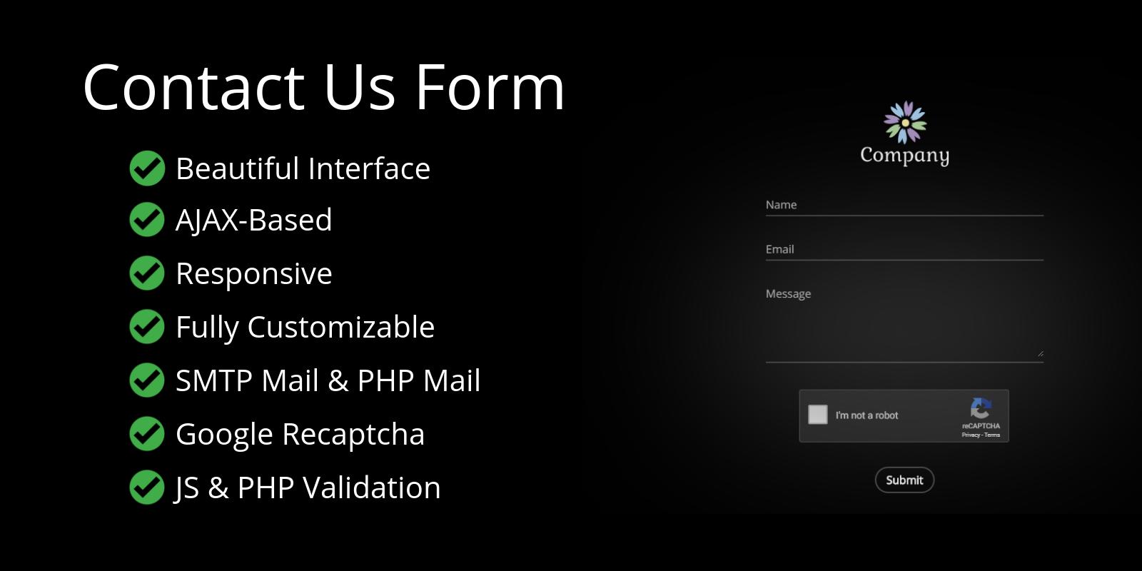 Recaptcha Powered AJAX Contact Form