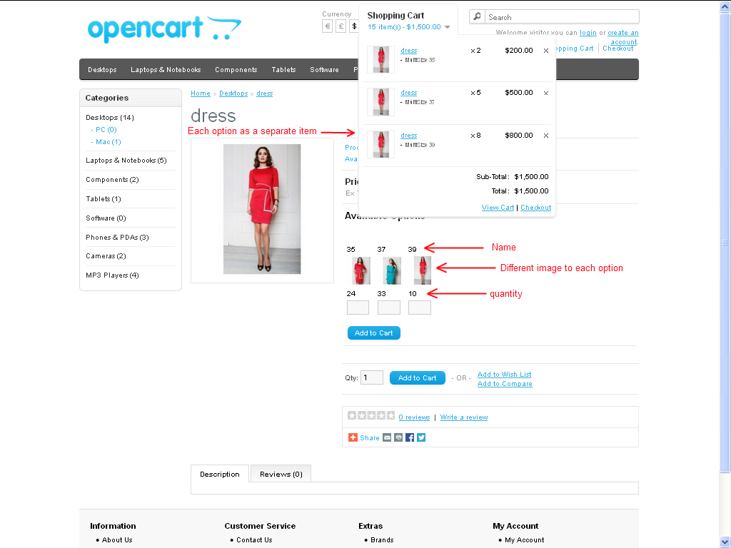 Option Pack for OpenCart