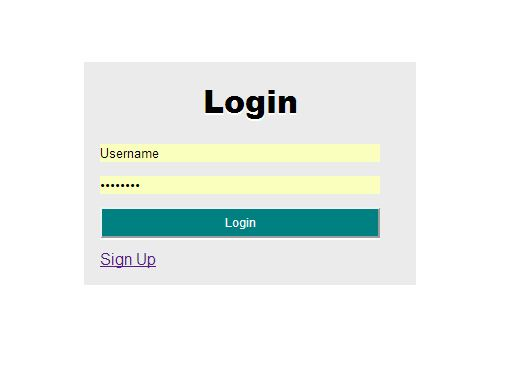Login/signup form which allows user to create new acc...
