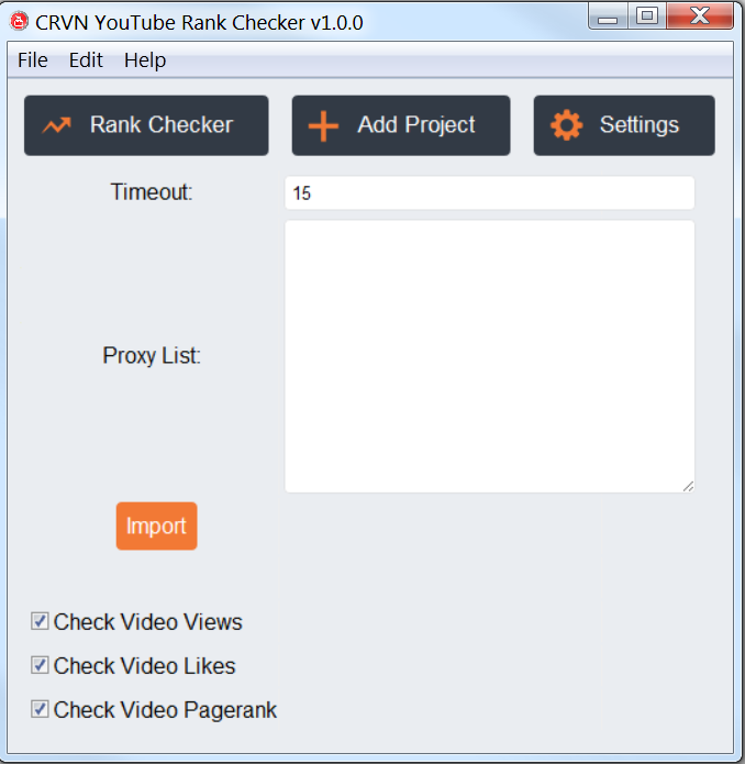 CRVN YouTube Rank Tracking Software