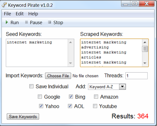KeywordPirate - The Ultimate Keyword Scraper