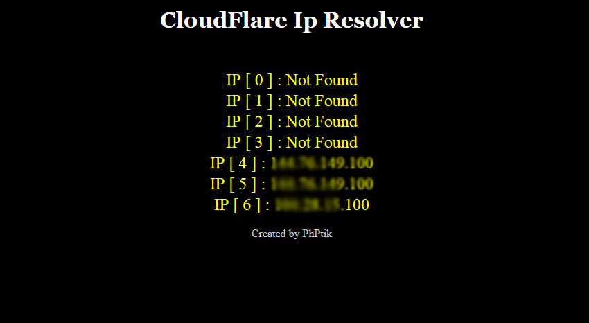 Phptik cloudflare Ip resolver for $5