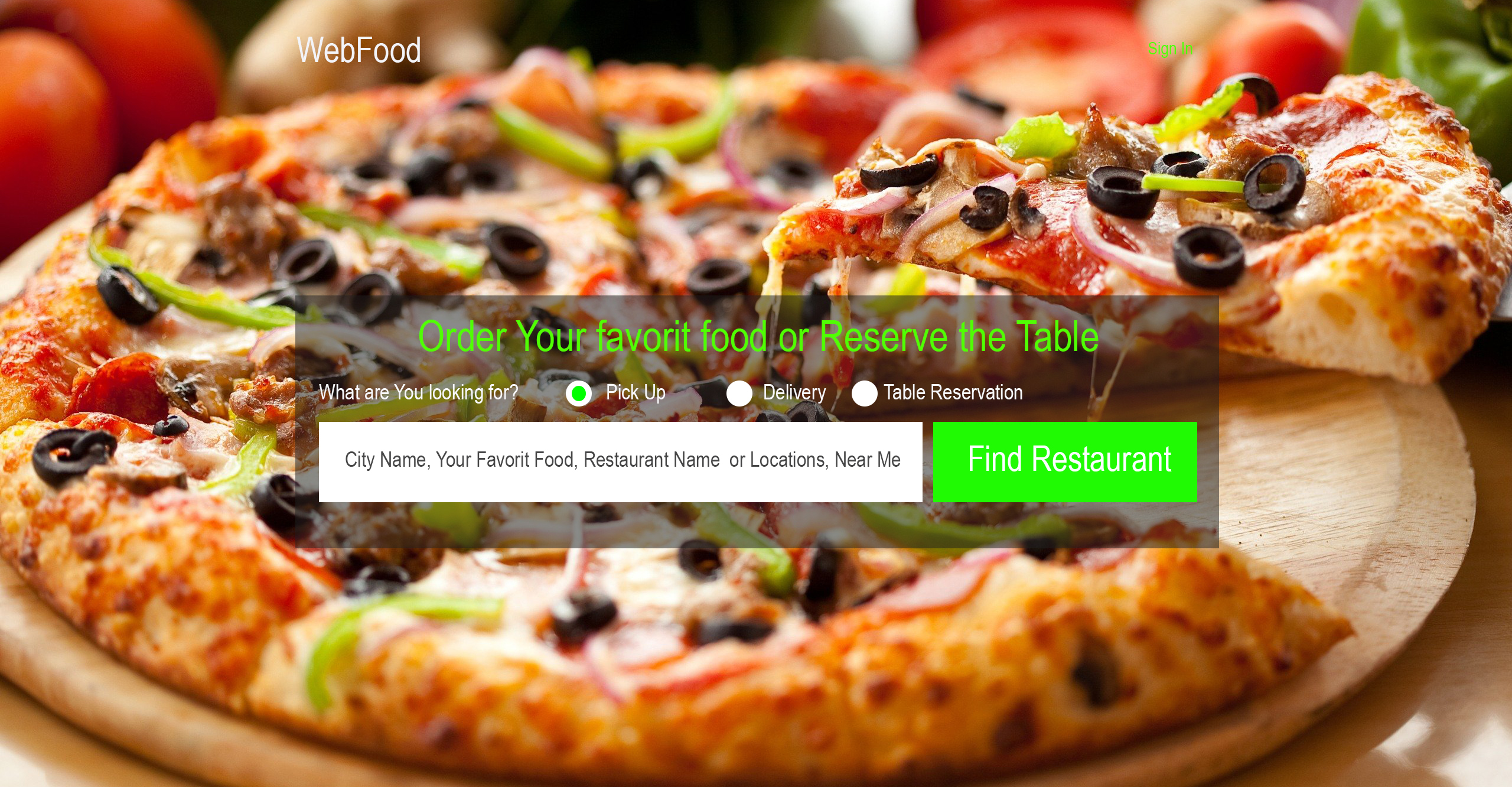 Online Food Ordering and Table Reservation Platform