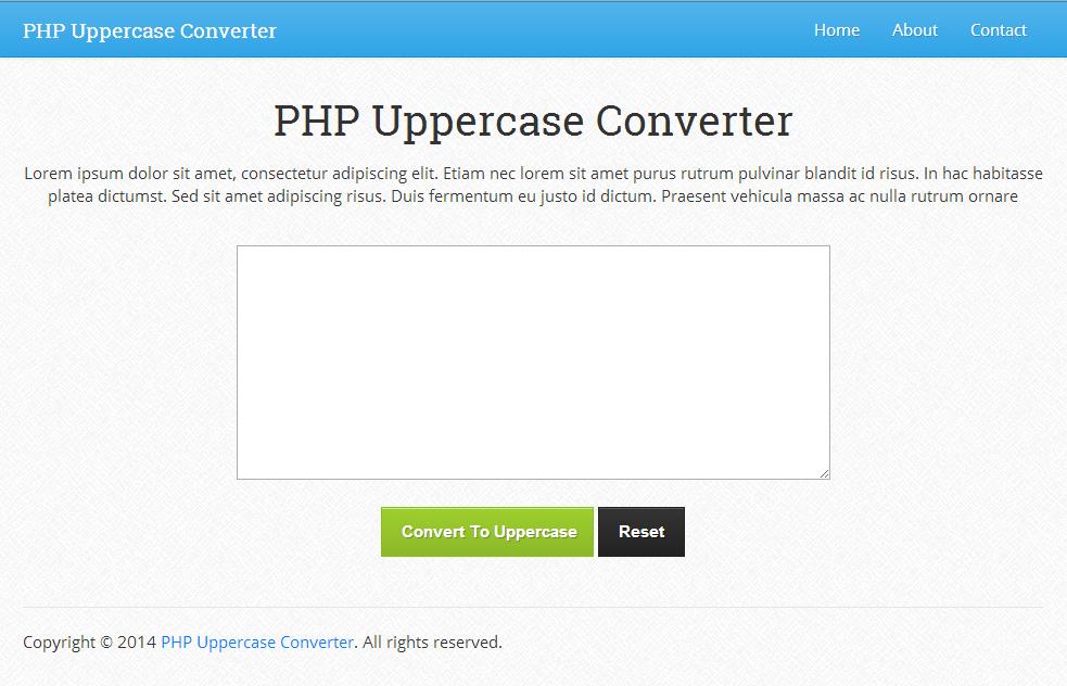 PHP Uppercase Converter 1.0