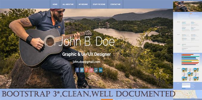 Skilled John Doe Resume/Portfolio