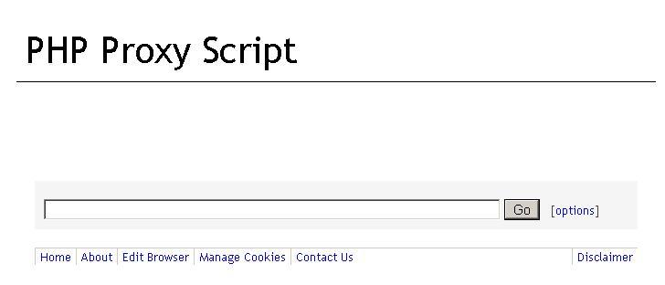 PHP Proxy Script