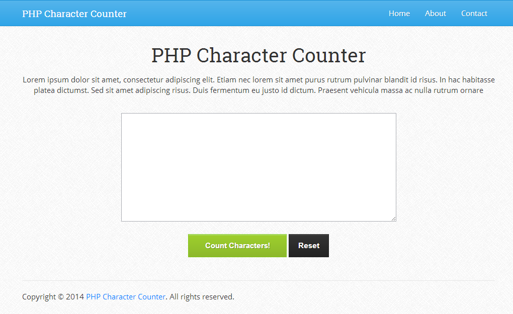 PHP Character Counter 1.0