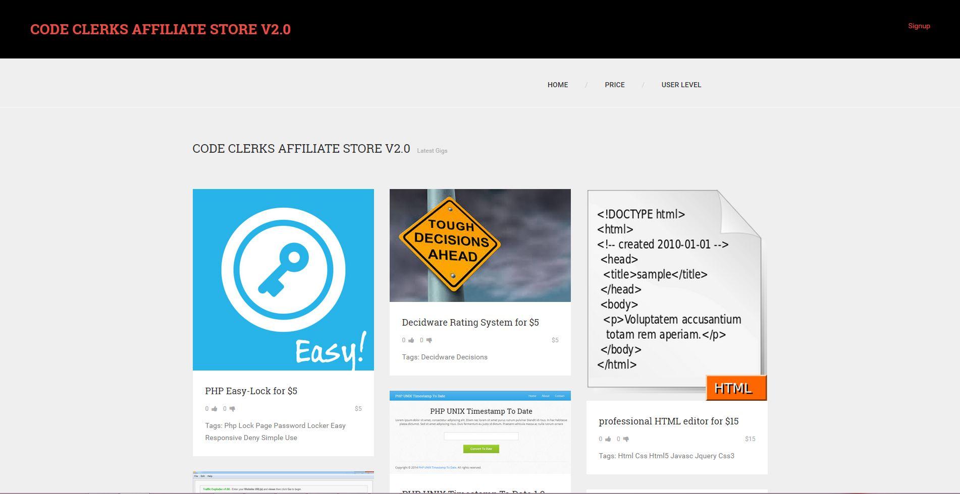 Code Clerks Affiliate Shop PHP Script V2.0