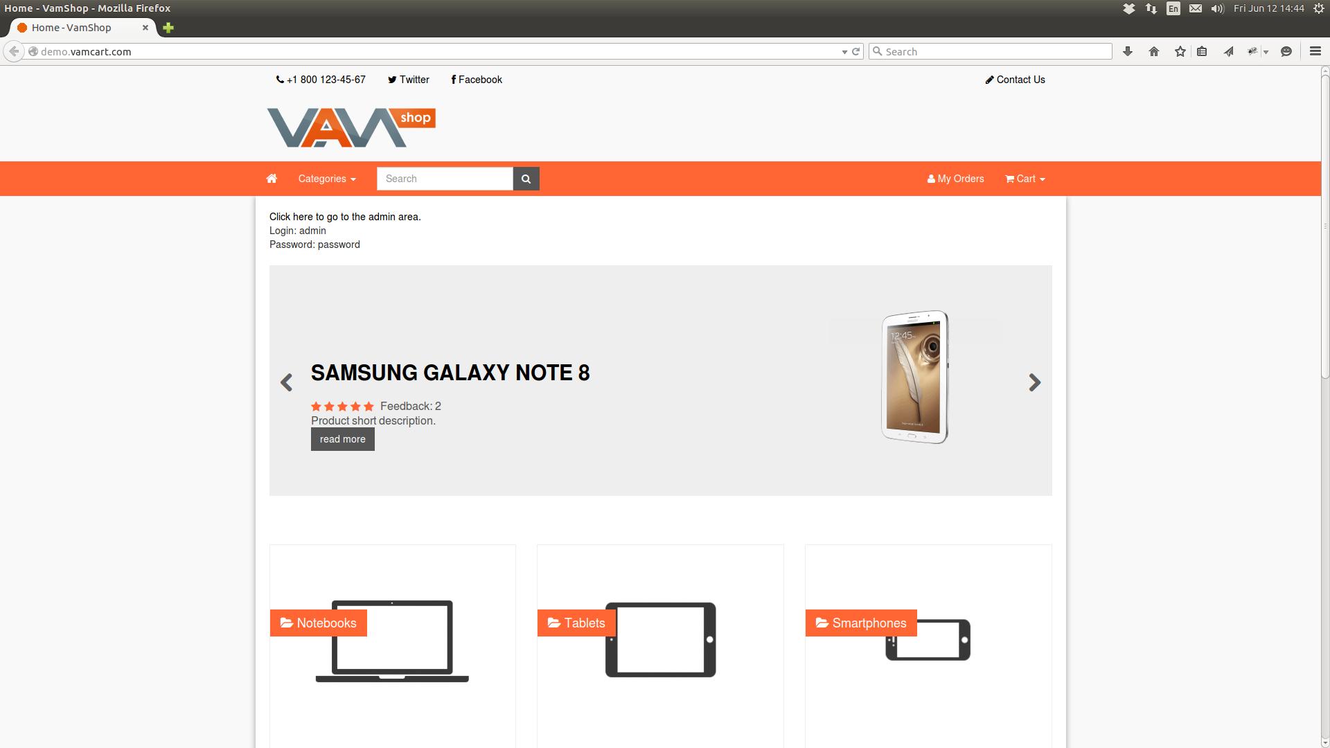 VamShop: Bootstrap + jQuery + Ajax Cart