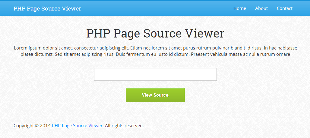 PHP Page Source Viewer 1.0