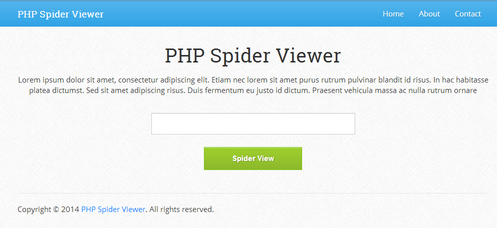 PHP Spider Viewer 1.0