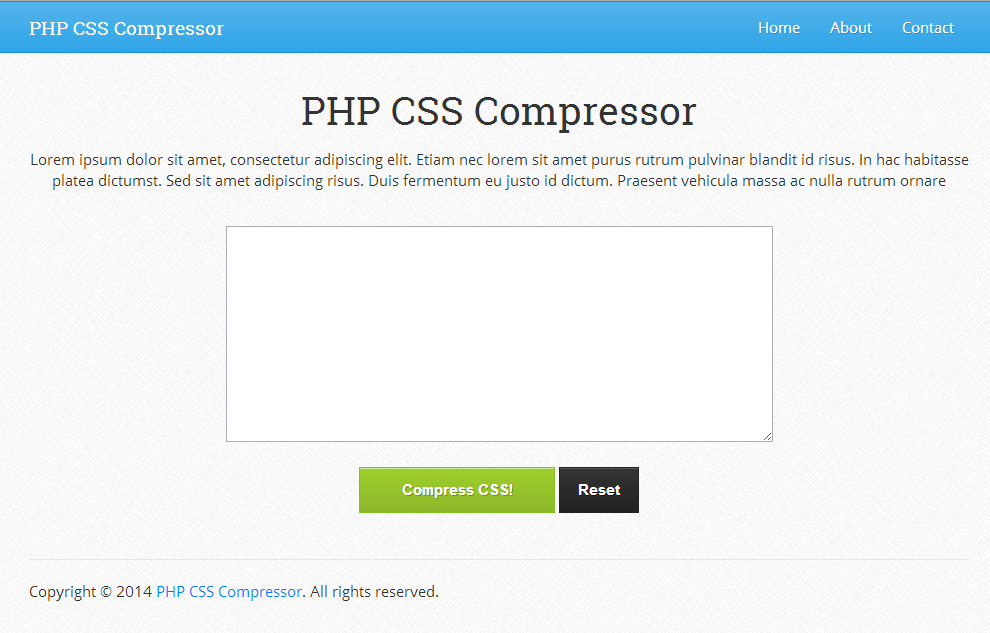 PHP CSS Compressor 1.0