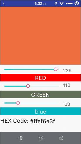 HEX code generator Android app