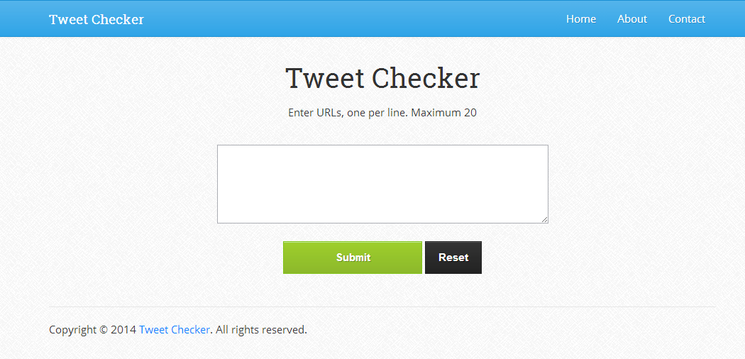 Tweet Checker