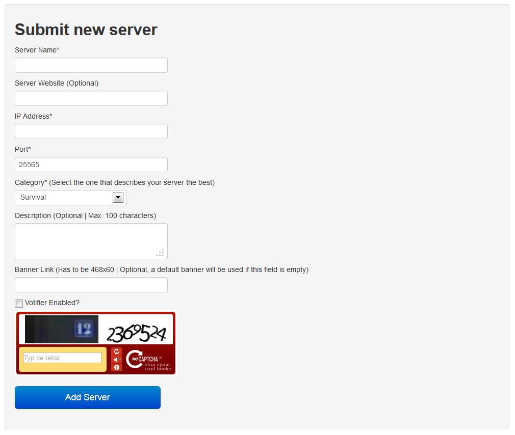 Minecraft Servers' Status List