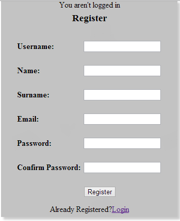 Secure Login And Register Script