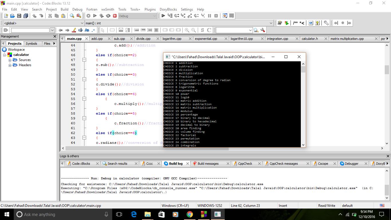 Create a C + program