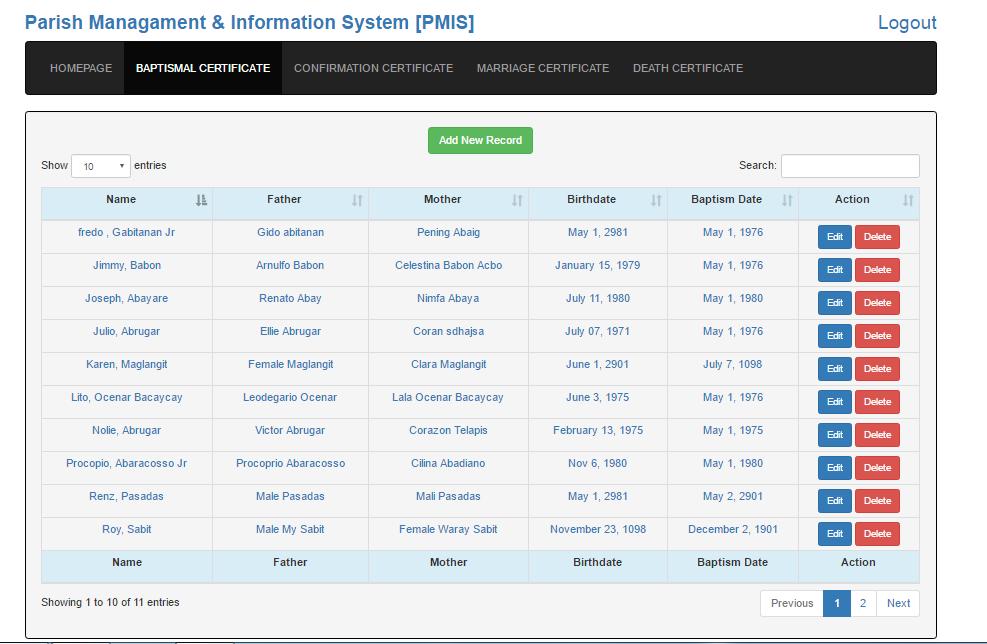 Complete Parish Management Software