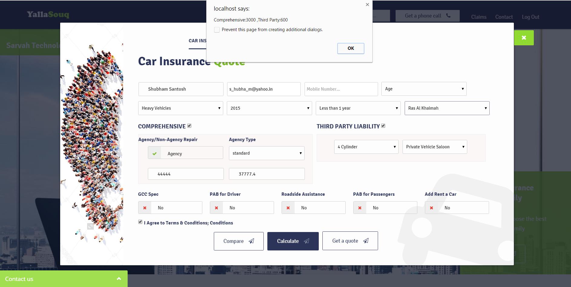 Insurance E - Commerce(Calculate,Compare & Buy)
