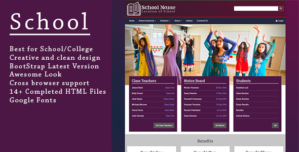 School - Responsive Bootstrap HTML5 Template
