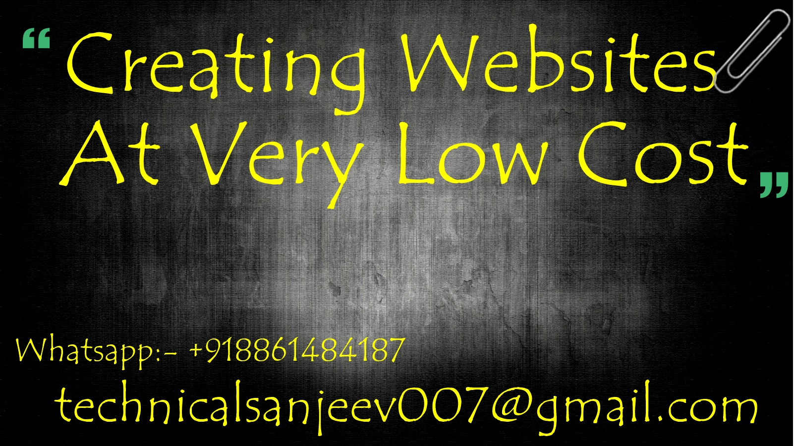 Create an amazing website