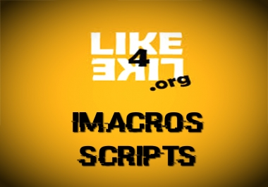 give you 18 Macro scripts for Like4Like that work perfectly! Instant Download
