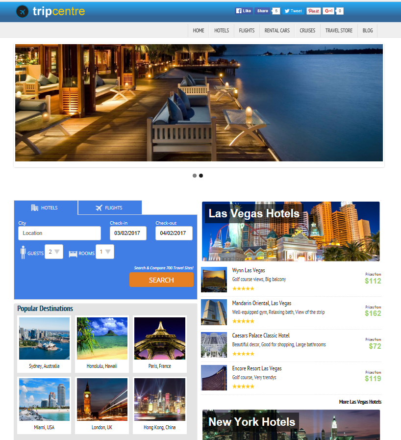 Travel Booking Website Script