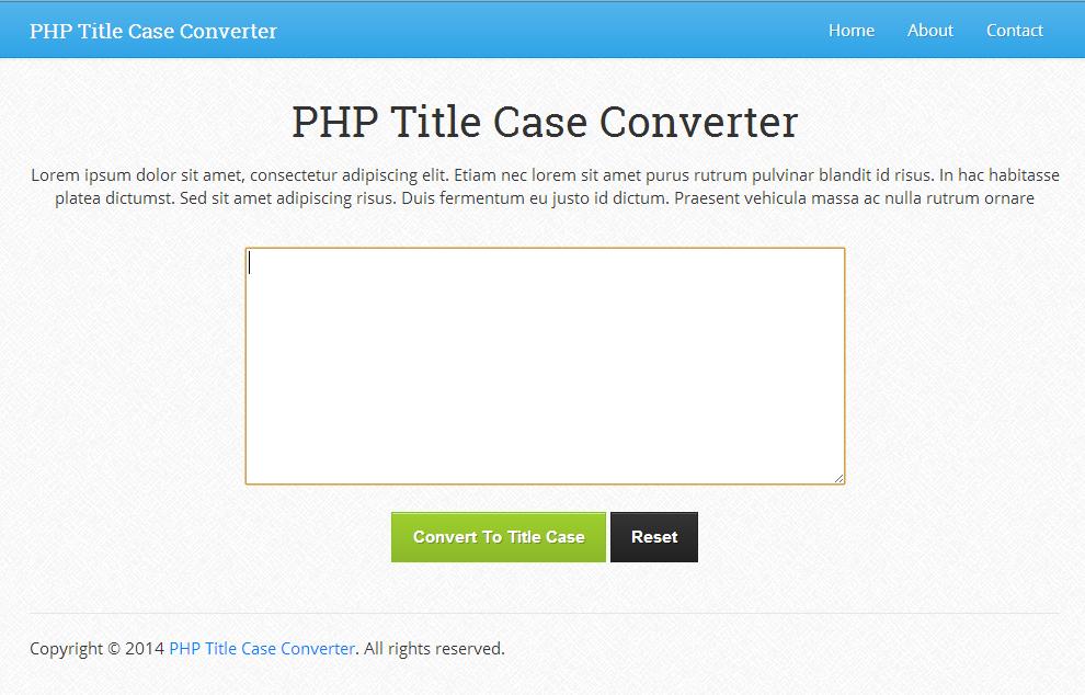 PHP Title Case Converter 1.0