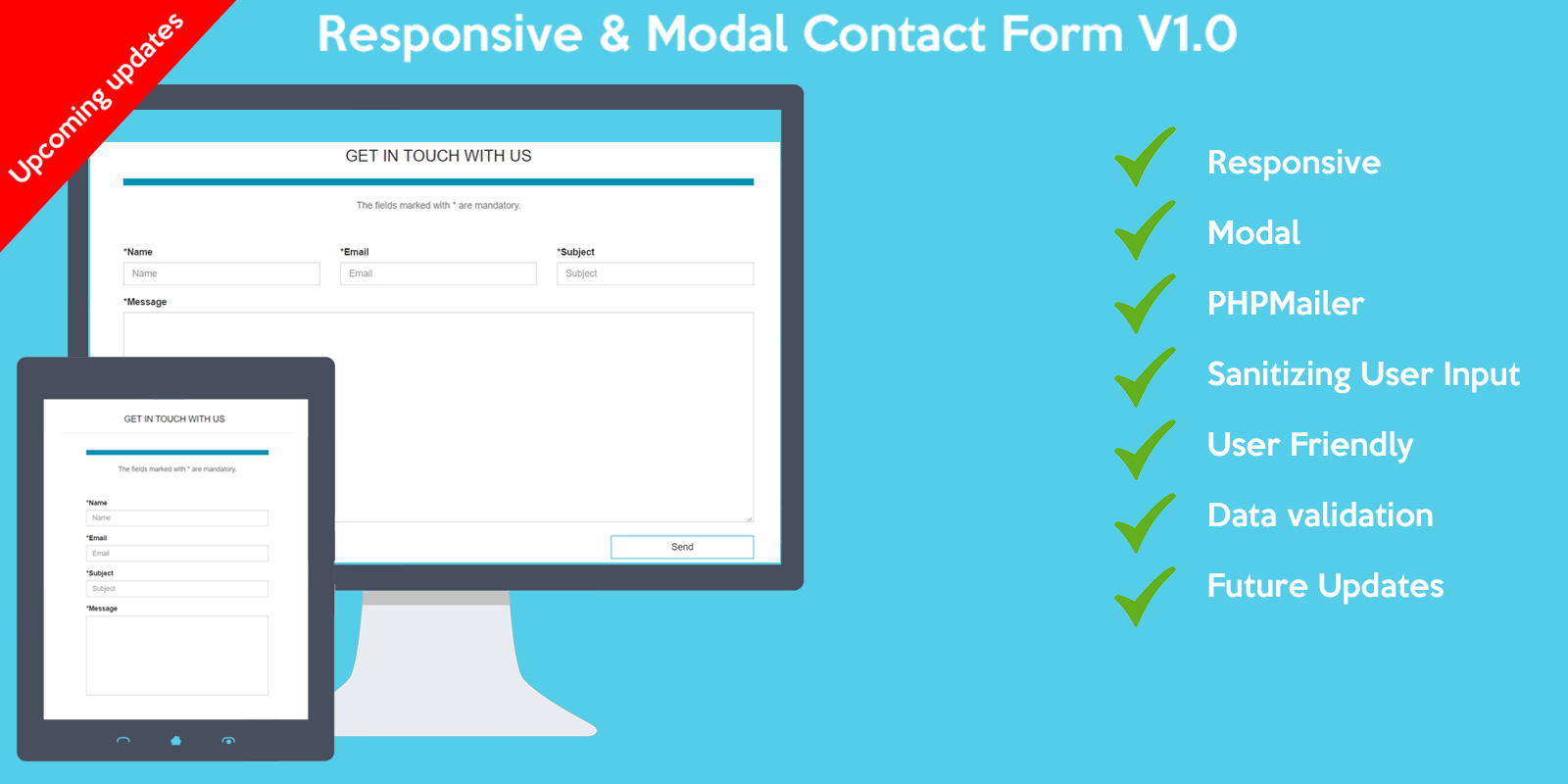Bootstrap responsive contact form