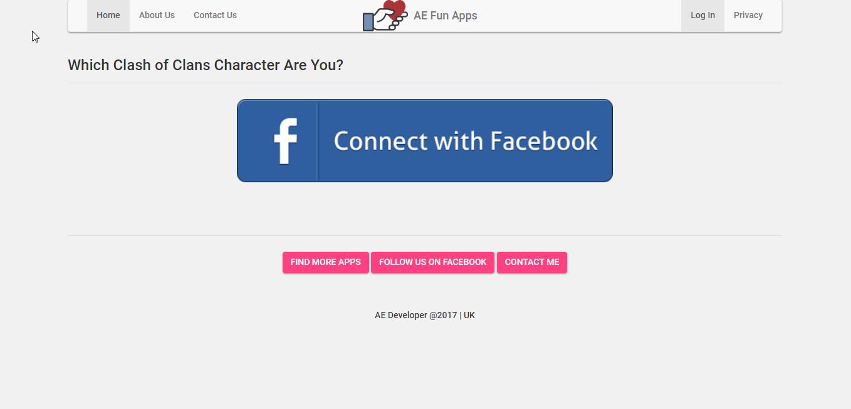 AE - Facebook Fun Apps Website