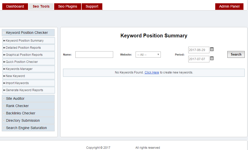 Design a complete seo control panel for managing SEO of your websites in just one panel