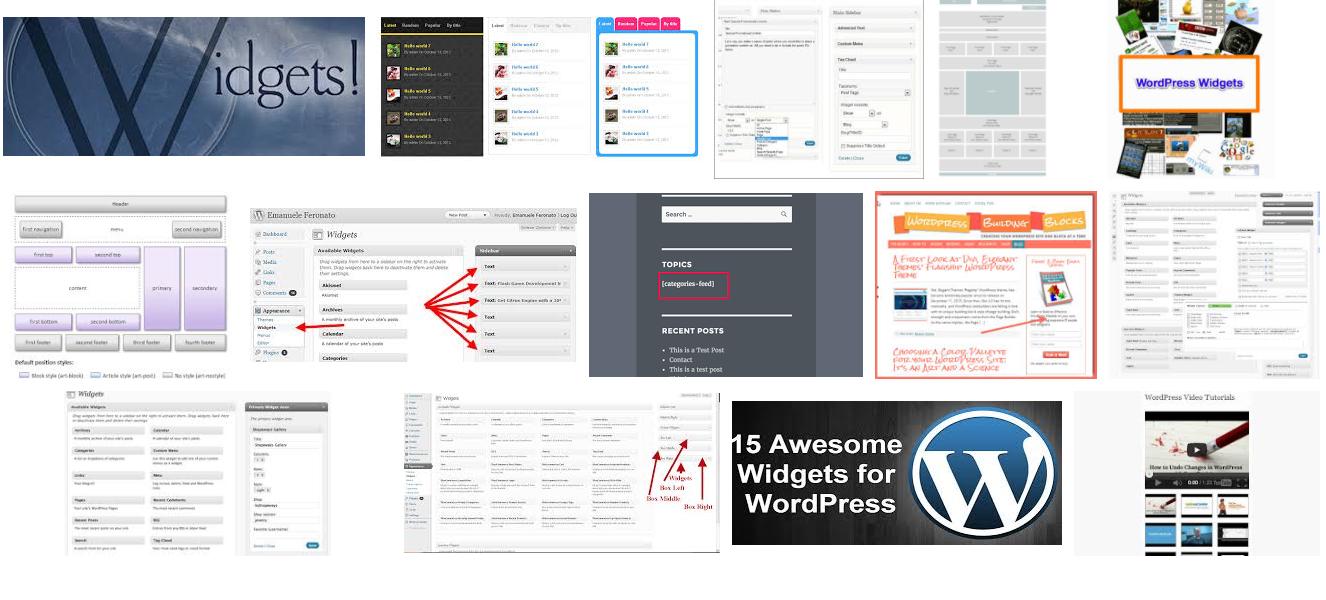 Add any widget to WordPress website
