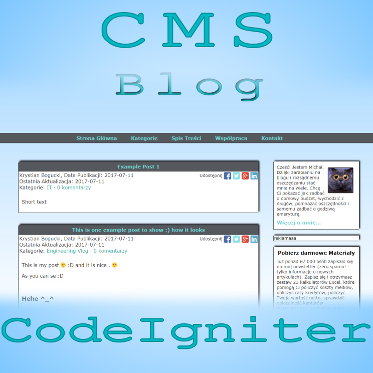 CMS powered by CodeIgniter