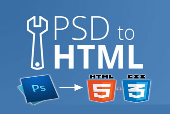 convert PSD to HTML5 & Responsive