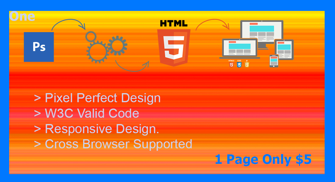 I can create PSD to HTML