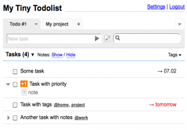Add reccuring tasks to myTinyTodo