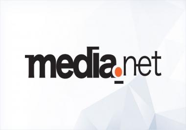 Create account on media. net using a website