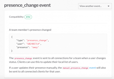 Slack - users presence monitor bot/app