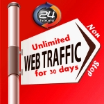 UNLIMITED HUMAN TRAFFIC BY Google Twitter Youtube Pinterest etc to web site for 30 days
