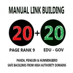 20 PR9 + 20. EDU/. GOV Backlinks From Authority Domains only
