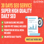 30 DAYS SEO Service - Unlimited TRAFFIC with BACKLINKS AND SIGNALS added daily - Super High Quality