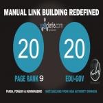 20 PR9 Backlinks and 20. Edu/. Gov Backlinks only