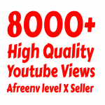 I will add 8000+ High Quality Youtube views