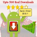 Get your android app 20 real user downloads in slow drip